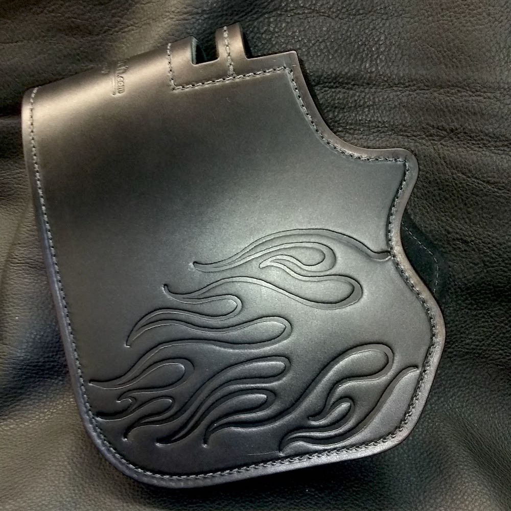 Harley-Davidson heat shield with flames embossing for Softail or touring models