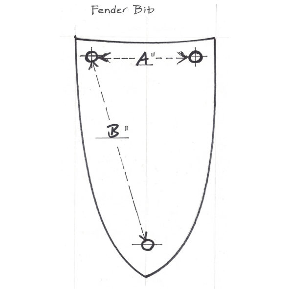 fender bib measurements
