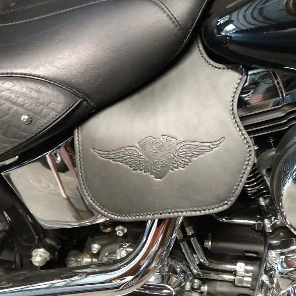 Harley Heat shield with wings embossing