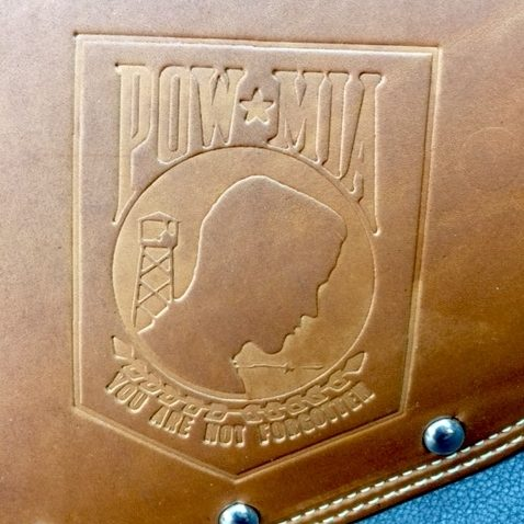 POW/MIA embossing on Captain Itch heat shield