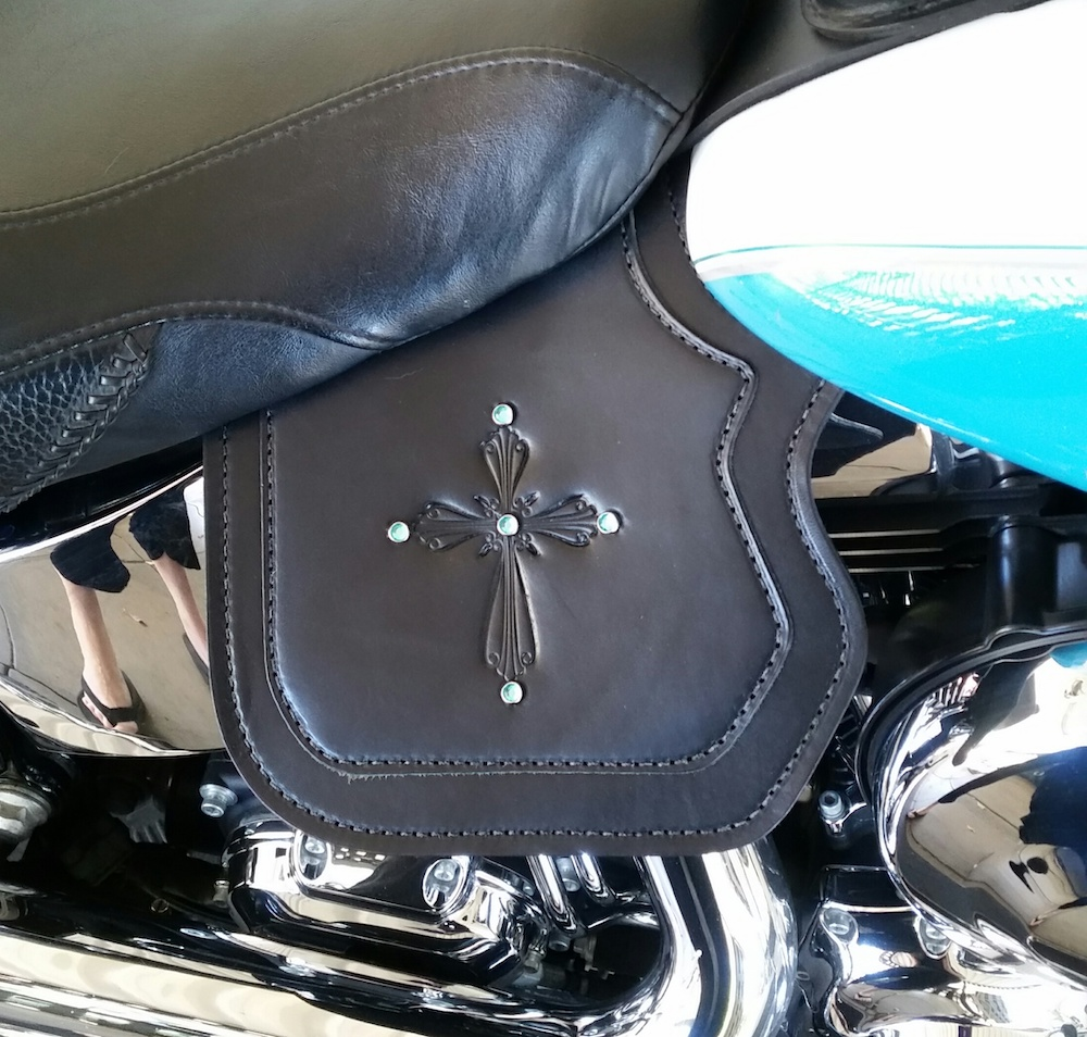 Harley heat shield double ply with cross embossing