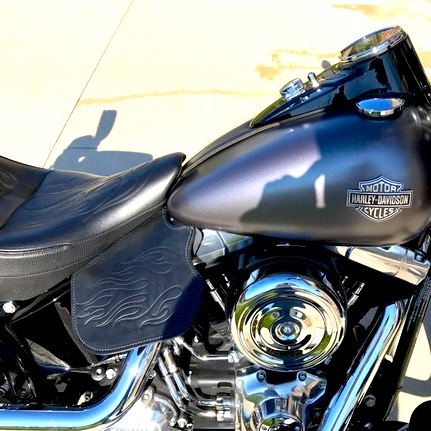 Harley-Davidson heat shield with flames embossing