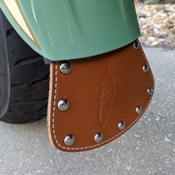 Indian Scout front fender mud flap
