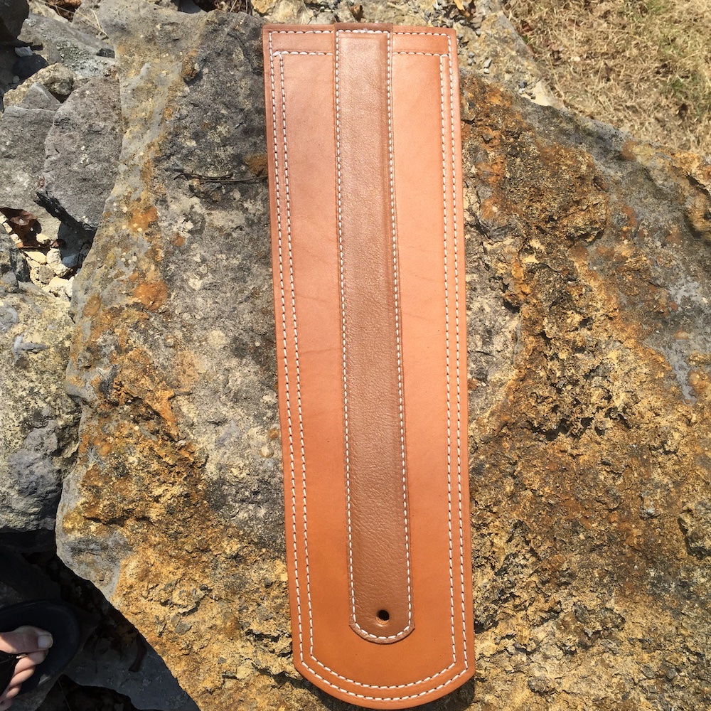 Indian fender bib with chap leather strip