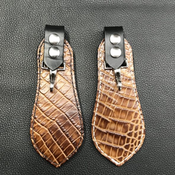 Key Fob with alligator embossed leather