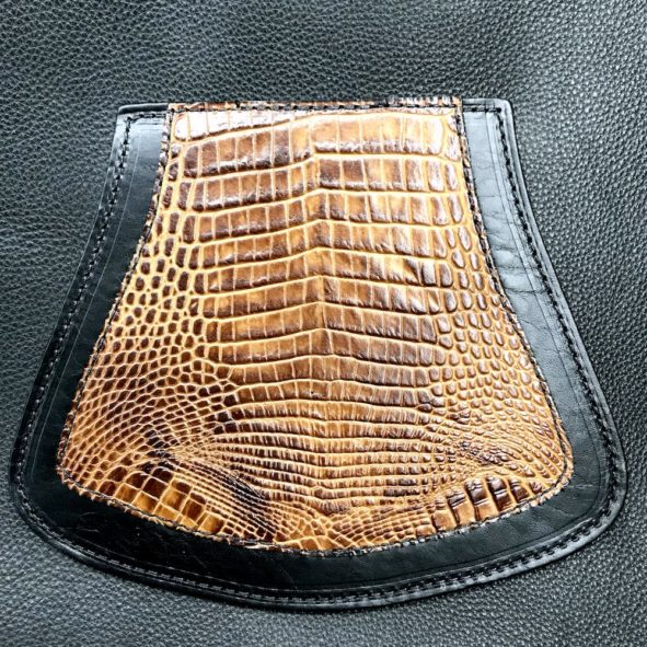 mud flap for Harley-Davidson with alligator embossed leather from Captain Itch