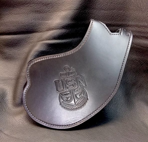 Indian Scout heat shield with military emblem embossings
