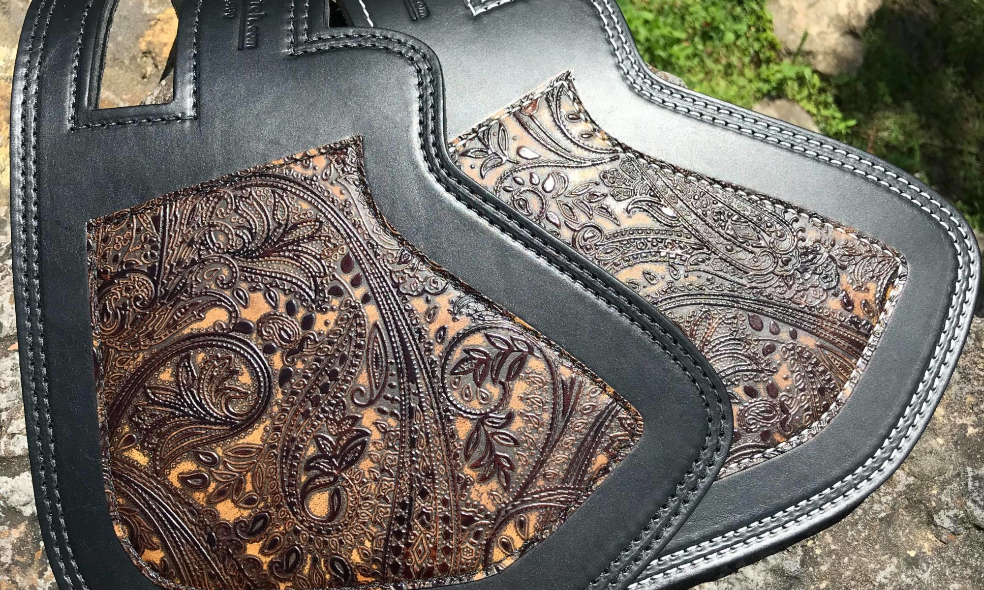 Indian heat protector with Leather and Lace overlay