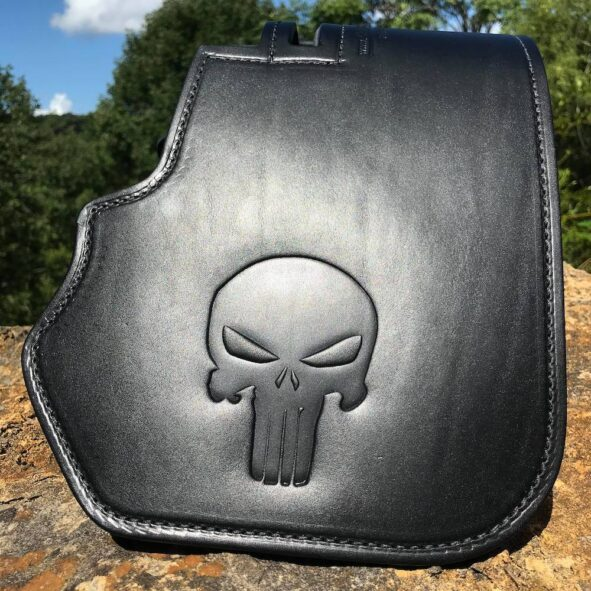 Harley-Davidson heat shield wit Punisher Skull
