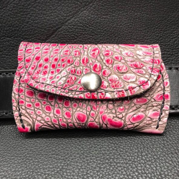Belt Pouch with alligator embossed leather