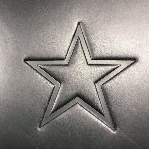 Star Logo on Harley-Davidson or Indian heat shield from Captain Itch