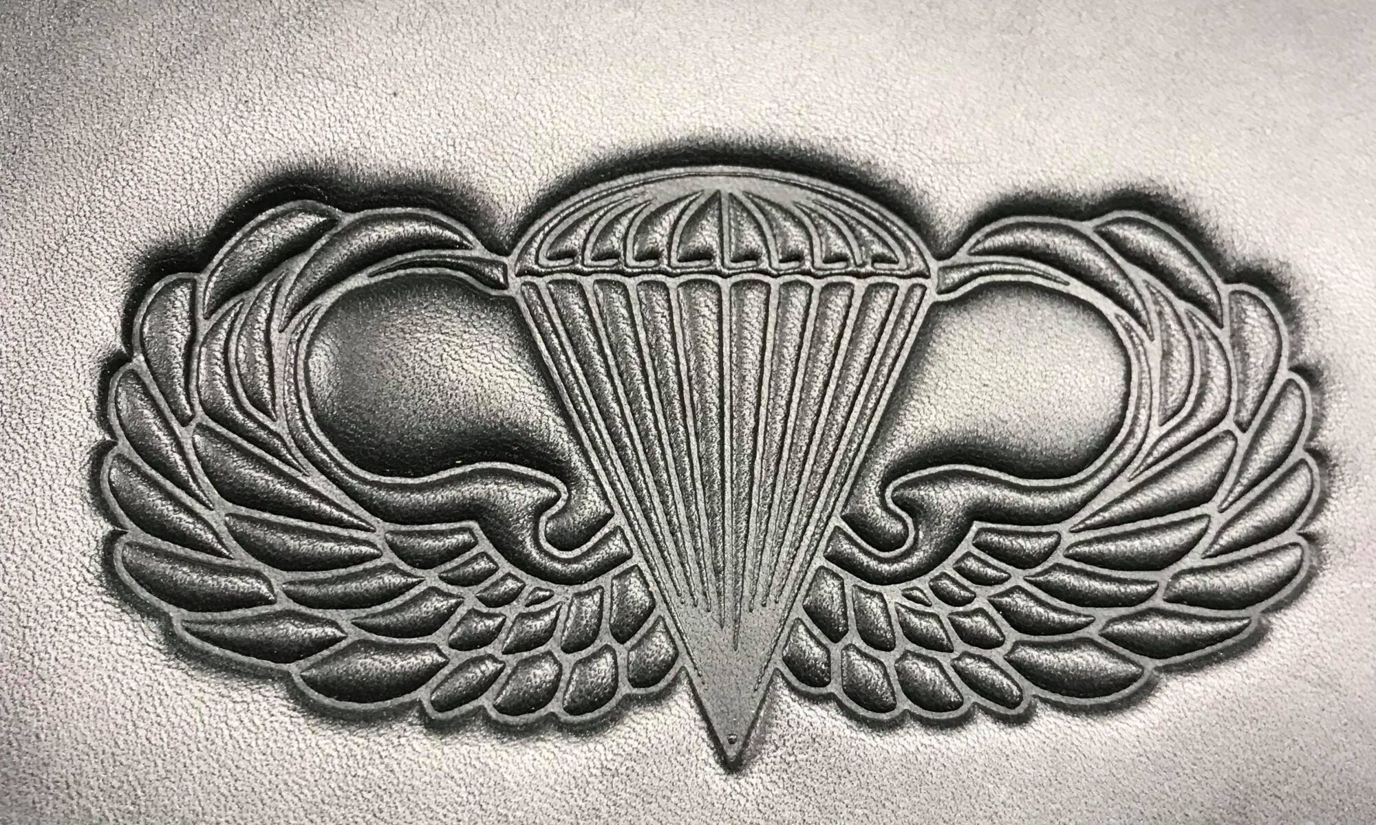US Airborne Logo on Harley-Davidson or Indian heat shield from Captain Itch